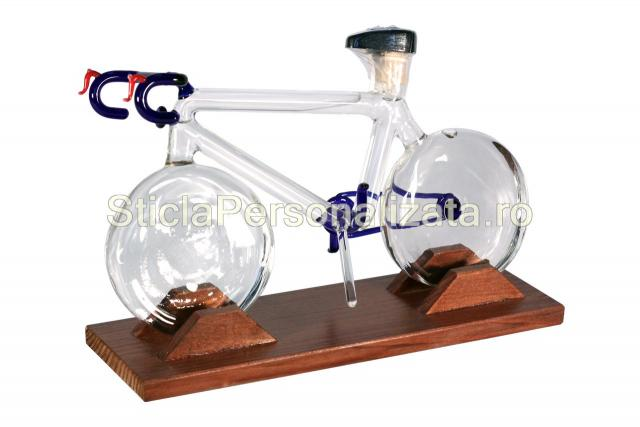 Sticla cu forma bicicleta