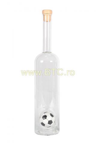 Sticla figurina minge fotbal